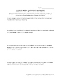 Metric Conversions and Estimation Worksheets