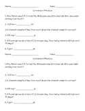 Metric/Customary Conversion Exit Ticket
