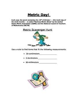 Metric Day Scavenger Hunt