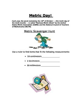 Metric Day Scavenger Hunt