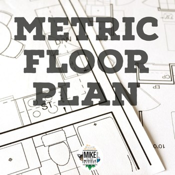Meaurement Floor Plan Drawing for Middle School