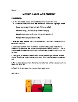 Metric Label Project