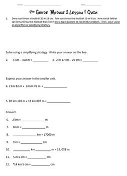 Metric Length Conversion Quiz