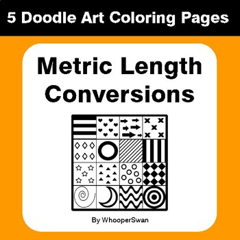 Metric Length Conversions - Coloring Pages | Doodle Art Math