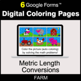 Metric Length Conversions - Digital Coloring Pages | Google Forms