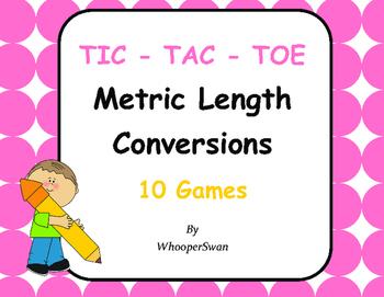 Metric Length Conversions Tic-Tac-Toe