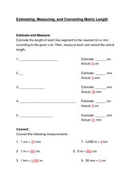 Metric Length-Estimate, Measure, Convert