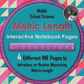 Metric Length Interactive Notebook Pages for Measurement in Science