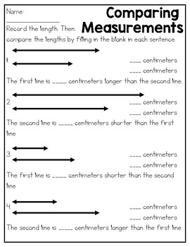Metric Length Practice Sheets