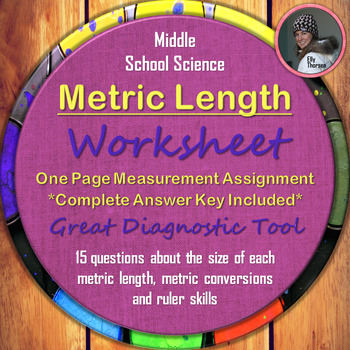Metric Length Worksheet: A Science Measurement Resource