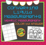Metric Liquid Conversions Color By Answer- Self-Checking Measurement Activity