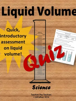 Metric Liquid Volume Measurement Assessment