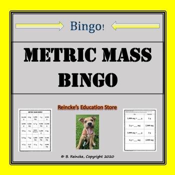 Metric Mass Bingo (30 pre-made cards!)