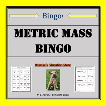 Metric Mass Bingo (30 pre-made cards!)