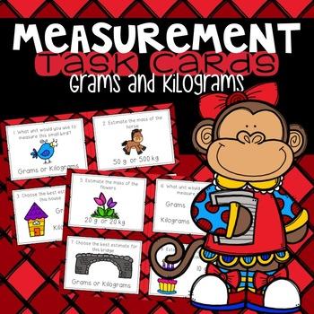 Metric Mass--Grams and Kilograms Task Cards