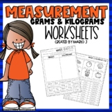 Metric Mass-- Grams and Kilograms Worksheets Distant Learning