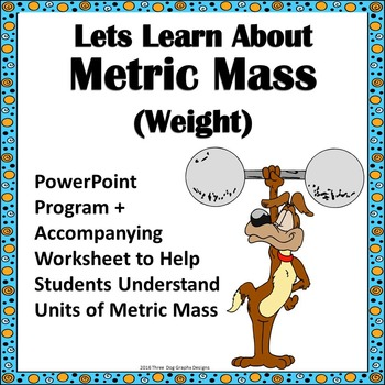 Metric Mass Weight PowerPoint Lesson + Worksheet Common Core