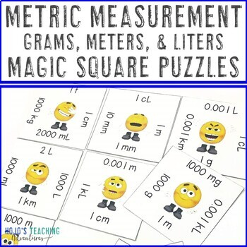 Metric Measurement Math Center Games