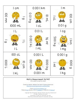 Metric Measurement Activities, Puzzles, or Practice Sheets in a Game Format