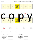 Metric Measurement Abbreviation Practice Worksheet
