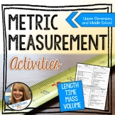 Metric Measurement Activities - Length, Time, Mass, Volume