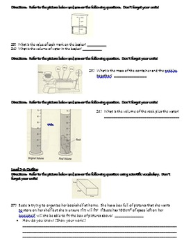 Metric Measurement Assessment with optional Next Chapter MYP Criterion A