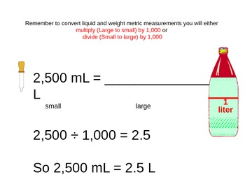 Metric Measurement Benchmarks and Conversions