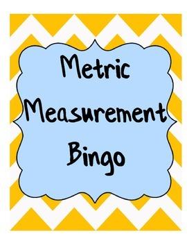 Metric Measurement Bingo