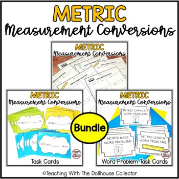 Metric Measurement Bundle Conversions Word Problems Worksheets