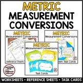 METRIC MEASUREMENT Bundle: Conversions, Word Problems, Worksheets, Task Cards