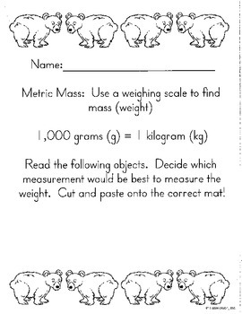 Metric Measurement Bundle-Cut/Paste,Task Cards- Math in Focus Chp 11 3rd grade