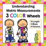Metric Measurement Color Wheels Length, Mass, + Volume Common Core Worksheets