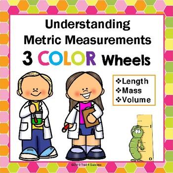 Metric Measurement Color Wheels Length, Mass, + Volume Com
