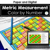 Metric Measurement Conversions Color by Number Distance Learning