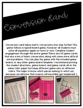 Metric Measurement Conversion: Conversion Chart and Games