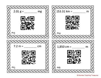 Metric Measurement Conversion QR Task Cards