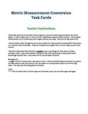 Metric Measurement Conversions Task Cards