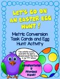 Metric Measurement Conversions Task Cards Easter Egg