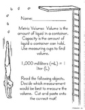 Metric Measurement Cut/Paste Volume- Math in Focus Chapter
