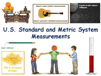 Metric Measurement Flashcards - task cards, study guide, s