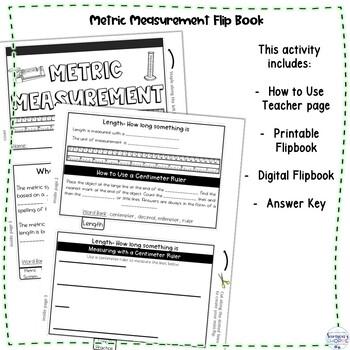 Metric Measurement Flip Book Activity