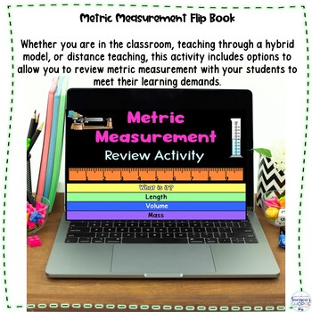 Metric Measurement Flip Book Review Activity for Mass Length and Volume
