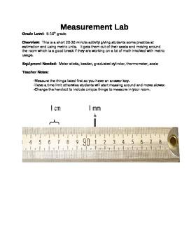 Metric Measurement Lab