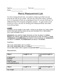 Metric Measurement Lab (Length, mass, volume, and temperature)