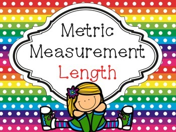 Metric Measurement: Length Task Cards with QR Codes and printables