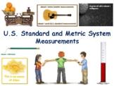 US/Metric Measurement Lesson Flashcards task cards study exam prep 2017 2018
