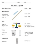 Metric Measurement Poster - Math / Science