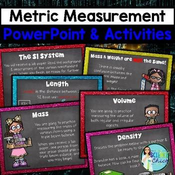 Measurement PowerPoint - Mass, Volume, Density, Metric Conversions & More!