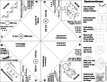 Metric Measurement Practice/ Metric Measurement Game 4th 5th 6th Grade