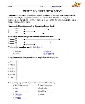Metric Measurement Practice Worksheets